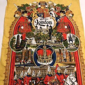 🇨🇦VINTAGE LINEN LONDON TEA TOWEL